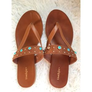NWOT Limelight Woman's Beaded Sandals